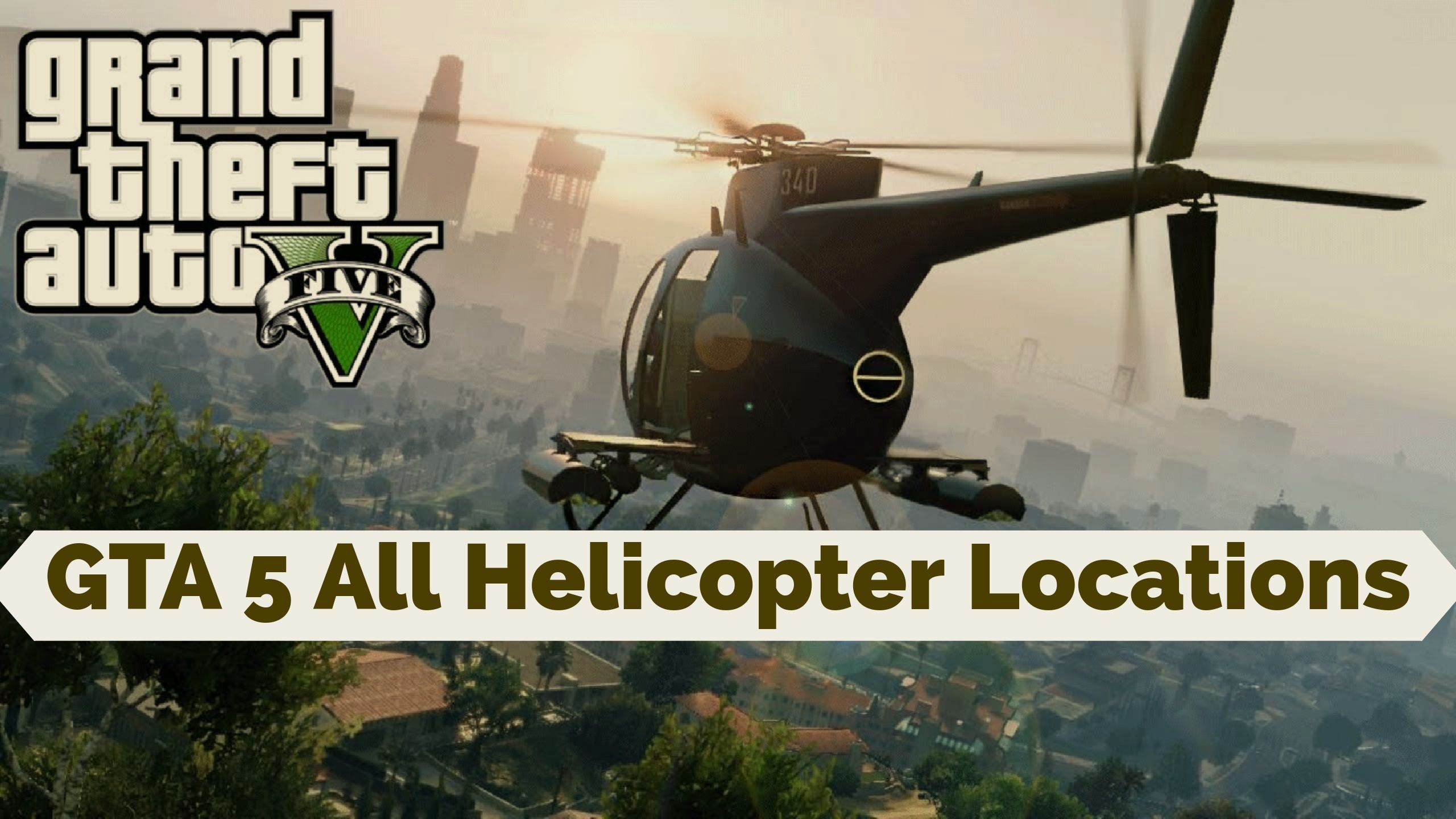 [All Locations] GTA 5 All Helicopter Locations Online