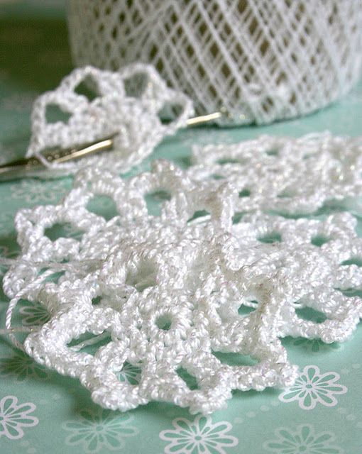 Easy Crochet Snowflake free pattern | Projects from seven-alive.com ...