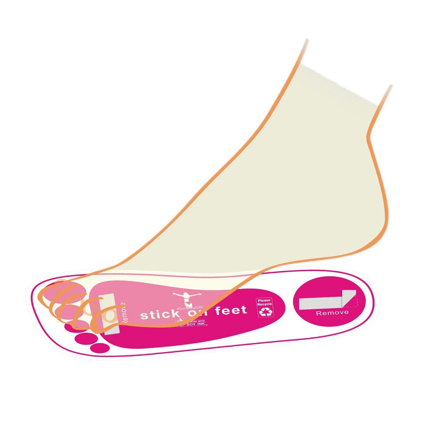 Economy 60pairs(120feets Pink Spray Tanning Feet Stick