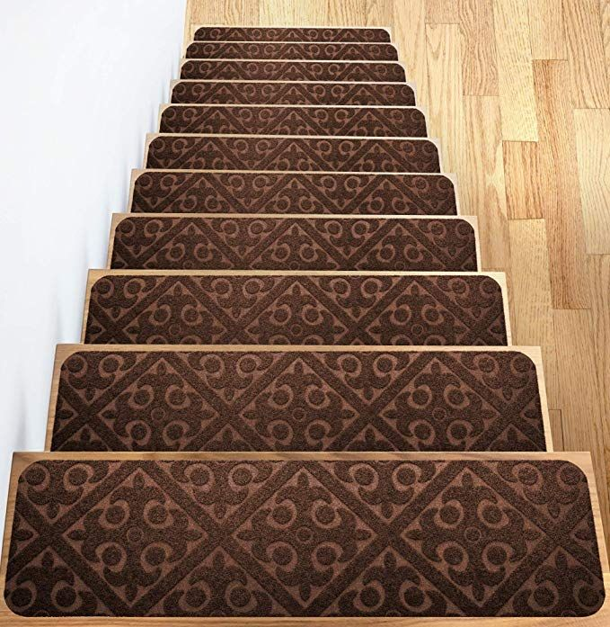 Best Elogio Carpet Stair Treads Set Of 13 Non Slip Skid Rubber 640 x 480
