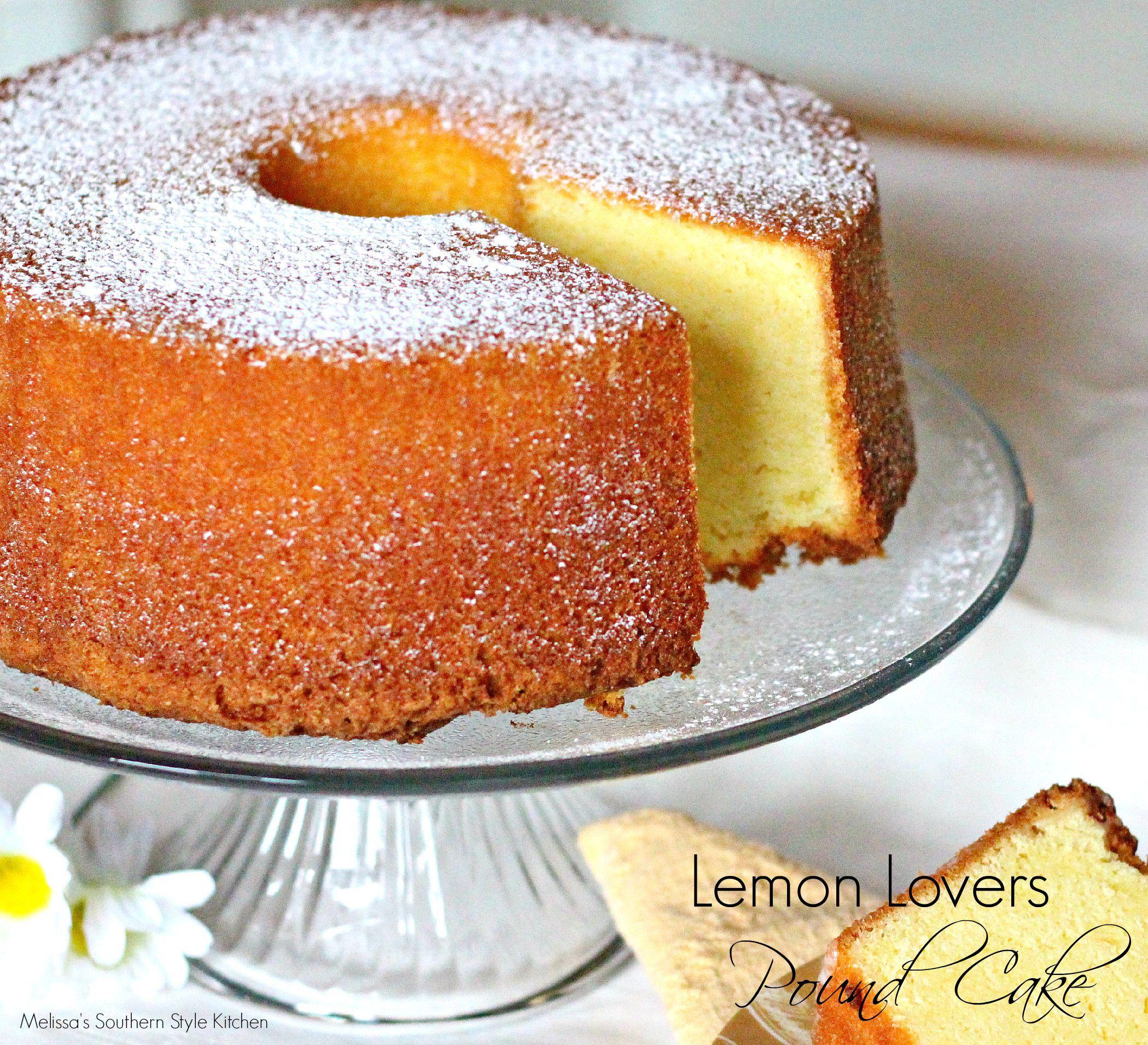 Lemon Lovers Pound Cake Melissassouthernstylekitchen Com Lemon Pound Cake Recipe Savoury Cake Cake Recipes