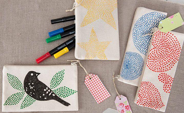 Textile Art Stoffmalerei Handarbeit Gestalten