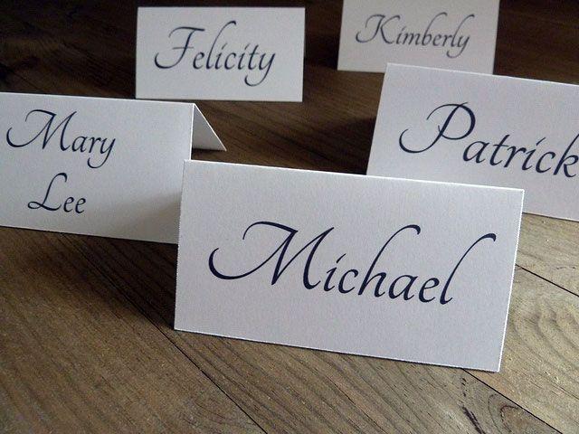 3 DIY Wedding Place Card Ideas
