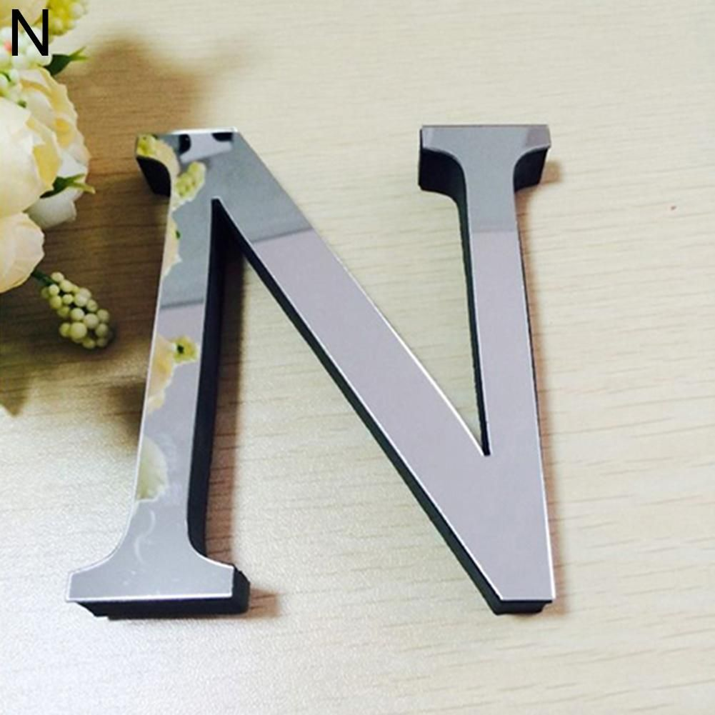 Photo of Fashion English Letters Alphabet DIY Art Mural Home Decor Mirror Wall Stickers – as the picture am