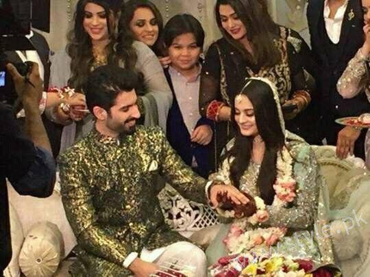 Aiman Khan Muneeb Butt Photoshoot On Engagement 3 Celebrities In