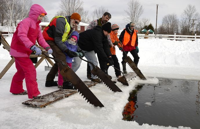 A celebration of wintertime on a historic farmstead. Participate in an ice harvest and try your hand at each necessary step of harvesting ice blocks from our farm pond. With outdoor activities, demonstrations, sleigh rides, games, farm animals and more for all generations. Farmhouse lunch available.