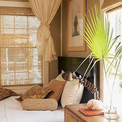 Key West Master Bedroom Decorated With Natural Materials