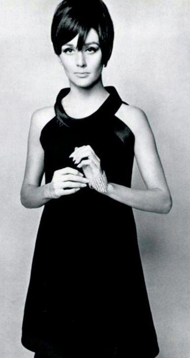 Little black dress Pierre Cardin, 1967 | Mod Looks | Pinterest ...