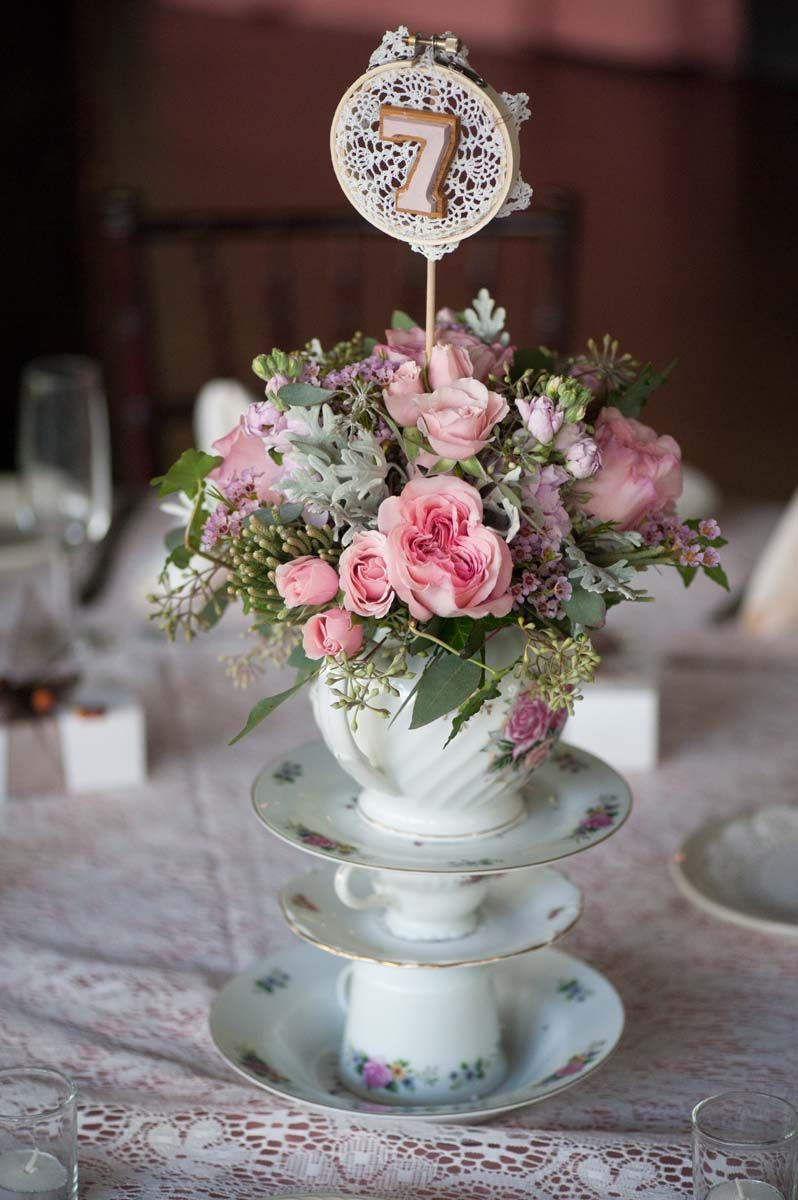 shabby chic wedding table centerpieces Flower