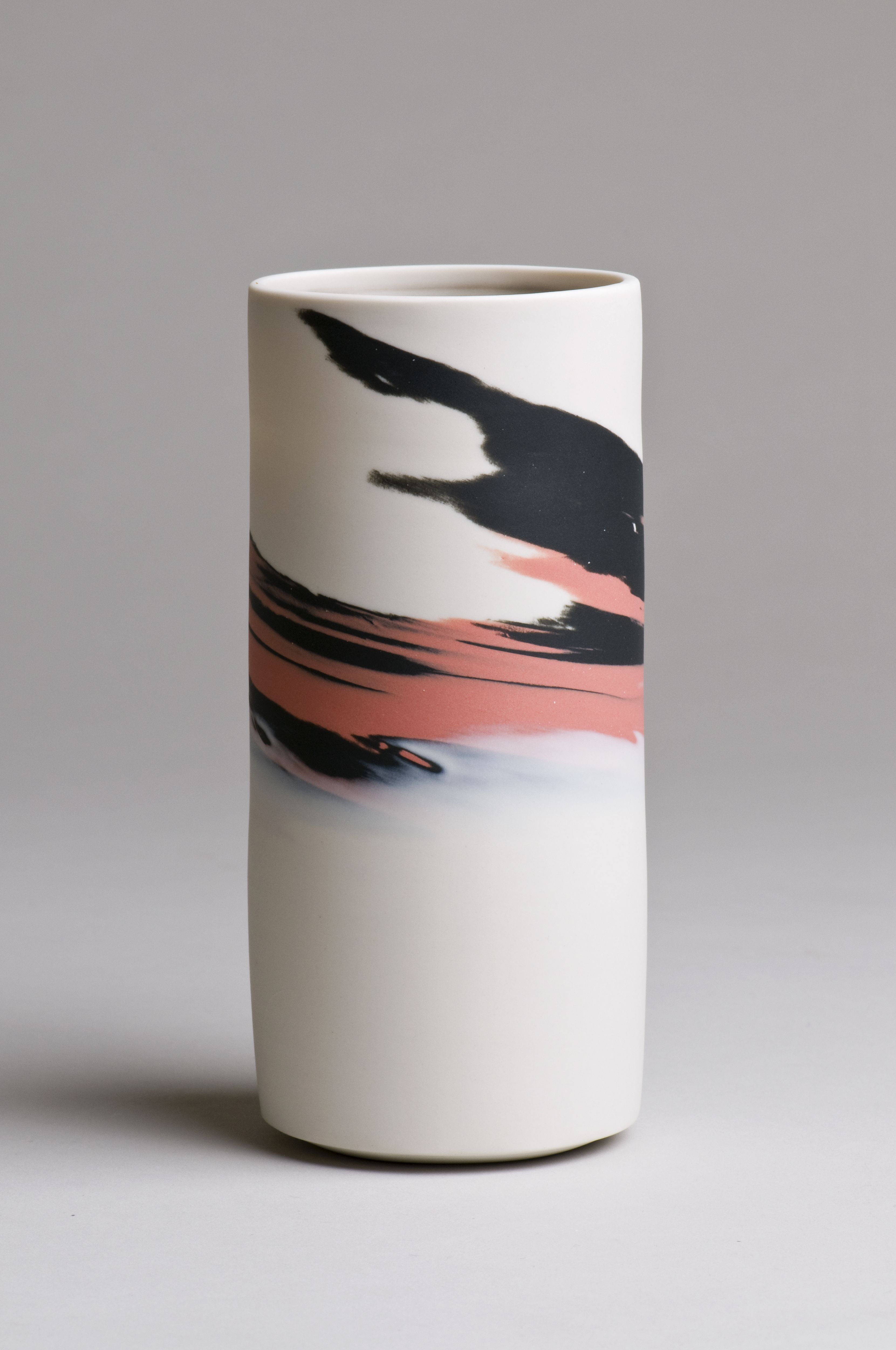 Agateware, polished porcelain