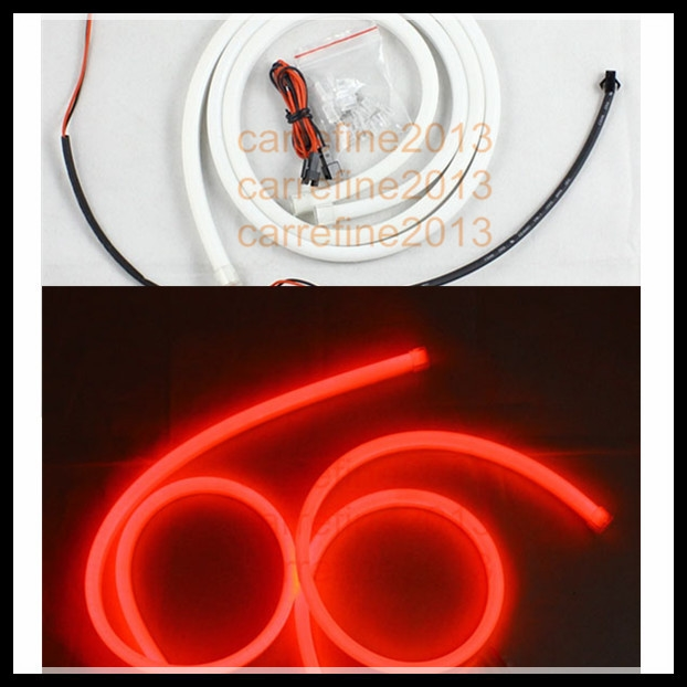 34.00$  Watch now - http://alihal.shopchina.info/go.php?t=32292705774 - 2*120cm red flexible led strip light lamp waterproof auto car headlight daytime running lights drl strip  #magazineonline