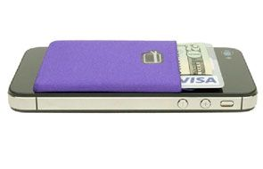 Card Ninja: travel light. Add this pocket to your i phone to hold a license, charge card and a bill or two and leave your wallet behind.