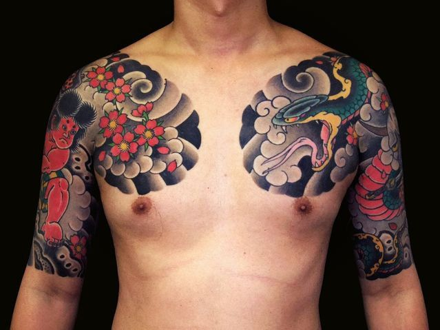 4d4e6f10ff301 KINTARO and SNAKE half sleeves | Tattoos | Japanese tattoo designs ...