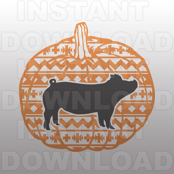 96 Fun Facts About Your Favorite Bridal Designers: Show Pigs Aztec Pumpkin SVG File Livestock SVG File By