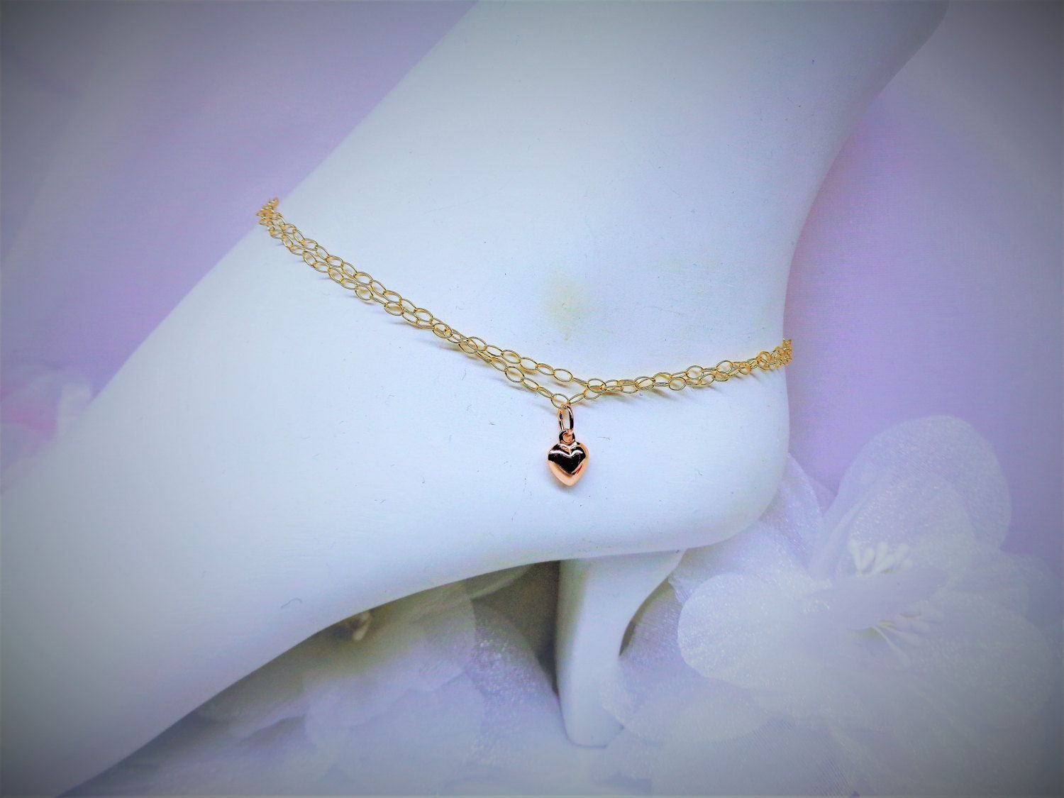 bridesmaids gift disc ankle bracelet stamped dp gold anklet swarovski com custom filled beach initial personalized amazon wedding birthstone