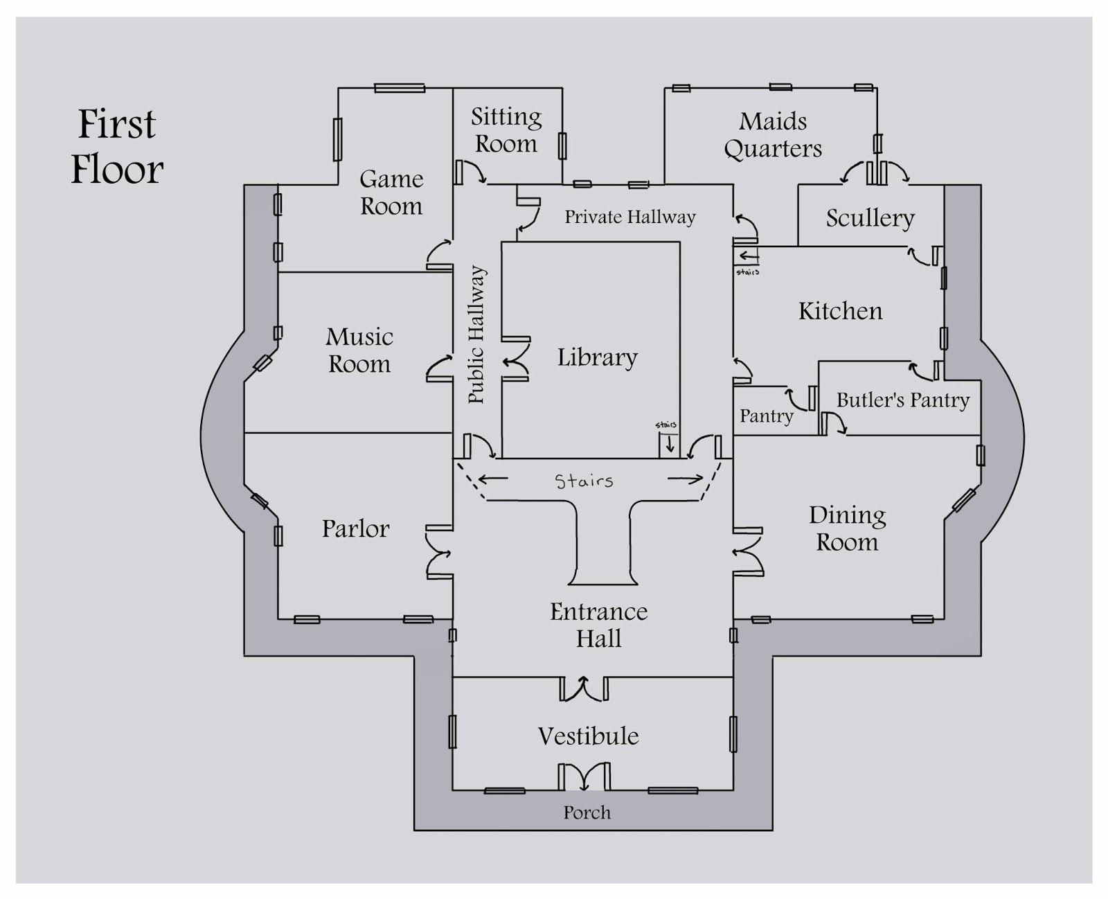 Game Prototyping Stuff Week 4 5 Floor Plans Mansion Floor Plan Floor Plans Secret Passages