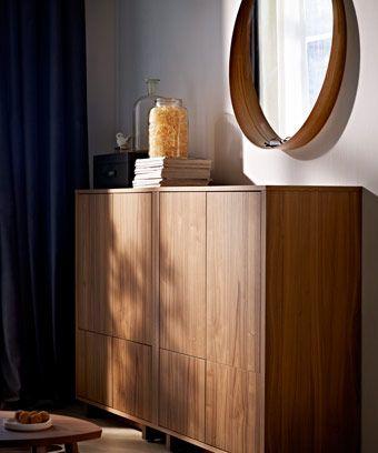 stockholm schr nke mit 2 schubladen und runder stockholm. Black Bedroom Furniture Sets. Home Design Ideas
