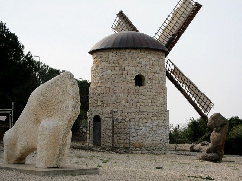 Windmill in Israel? Yes, at Tefen Industrial Park, Galilee, Israel