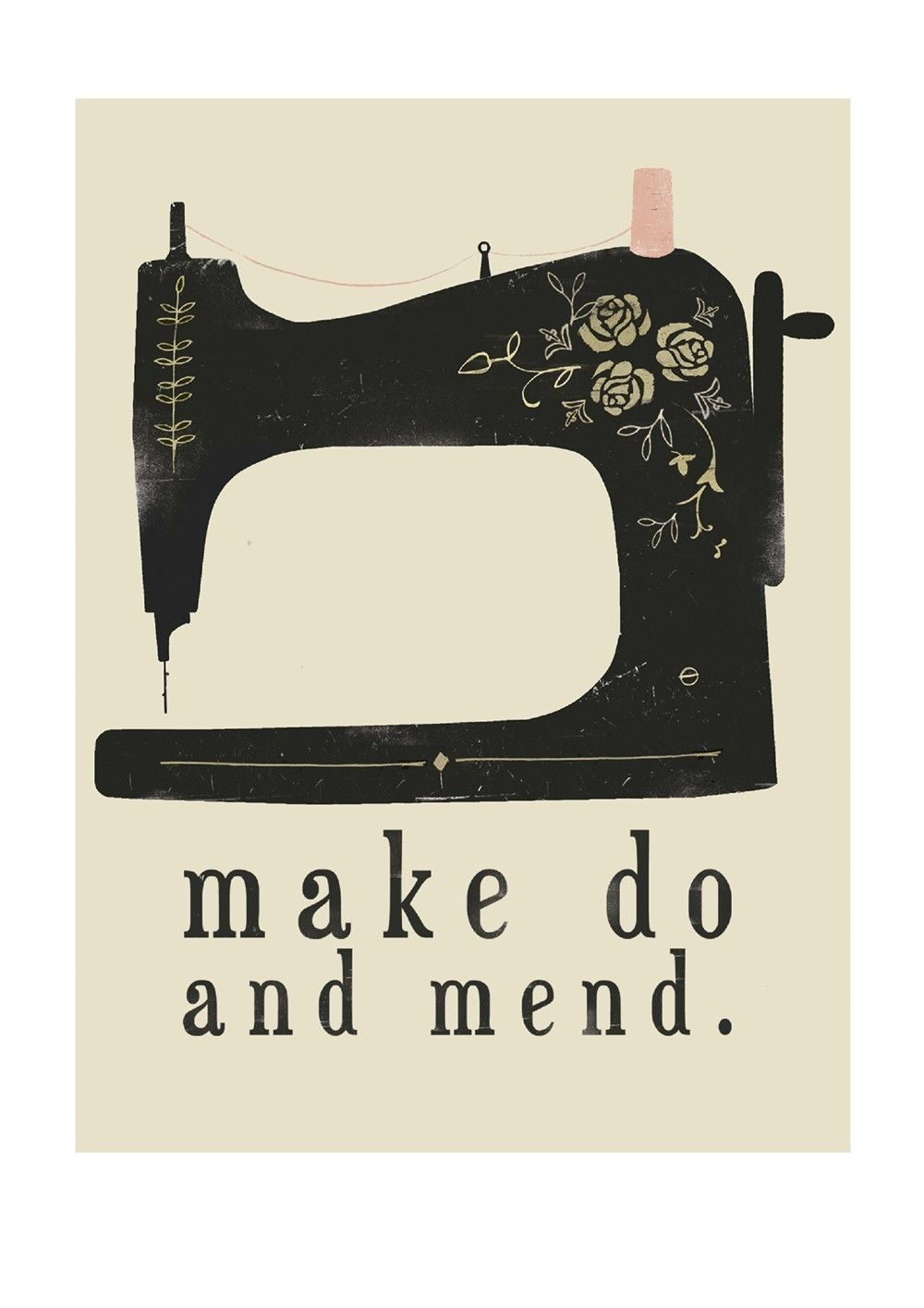 Make Do And Mend - Digital Print. via Etsy. | sew ✂ nähen ...