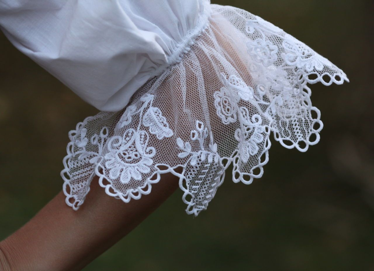 Zubří - typical tulle embroidery
