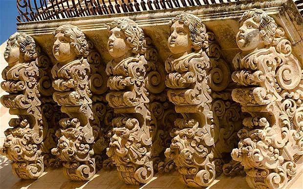 Balcony detail, Noto Sicily