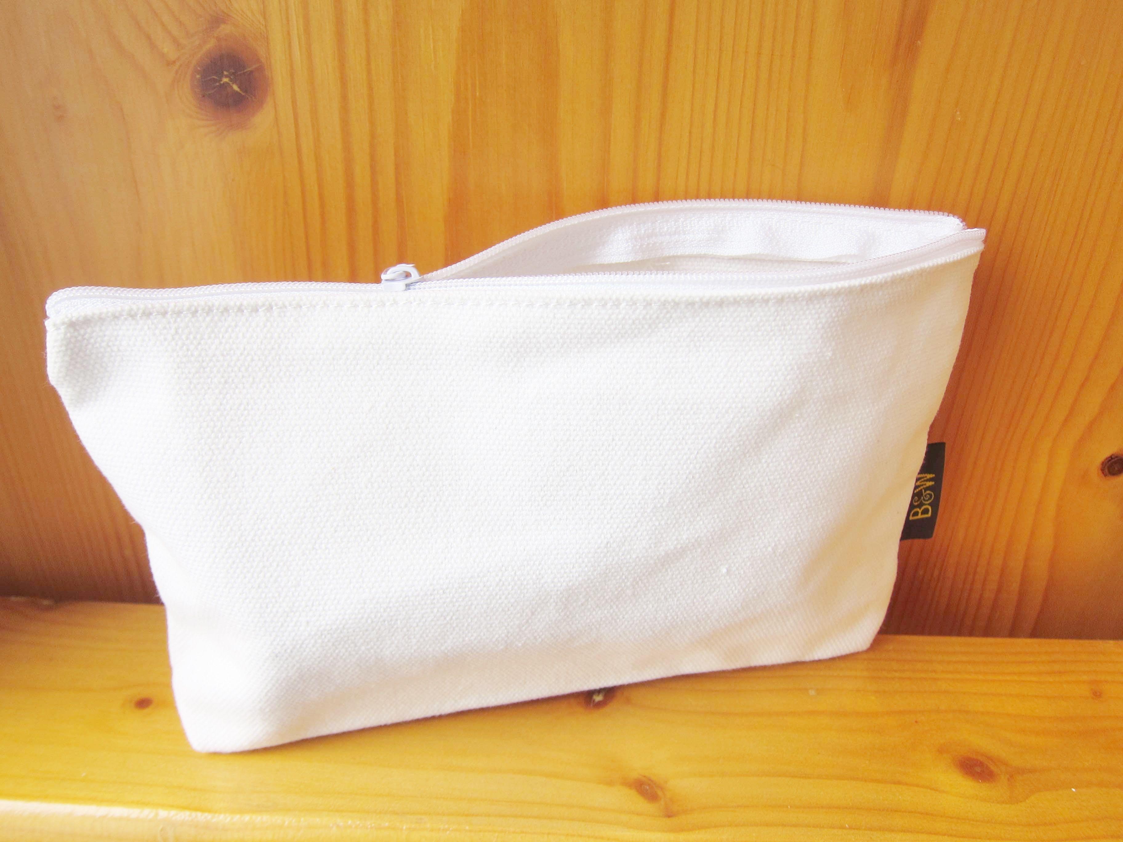 Canvas Zipper Pouch / Cosmetic Bag, big & plain Kids