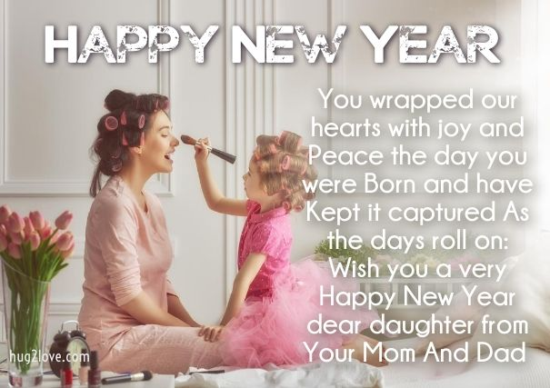 New Year Wishes for Daughter | Happy New Year 2019 Wishes Quotes ...