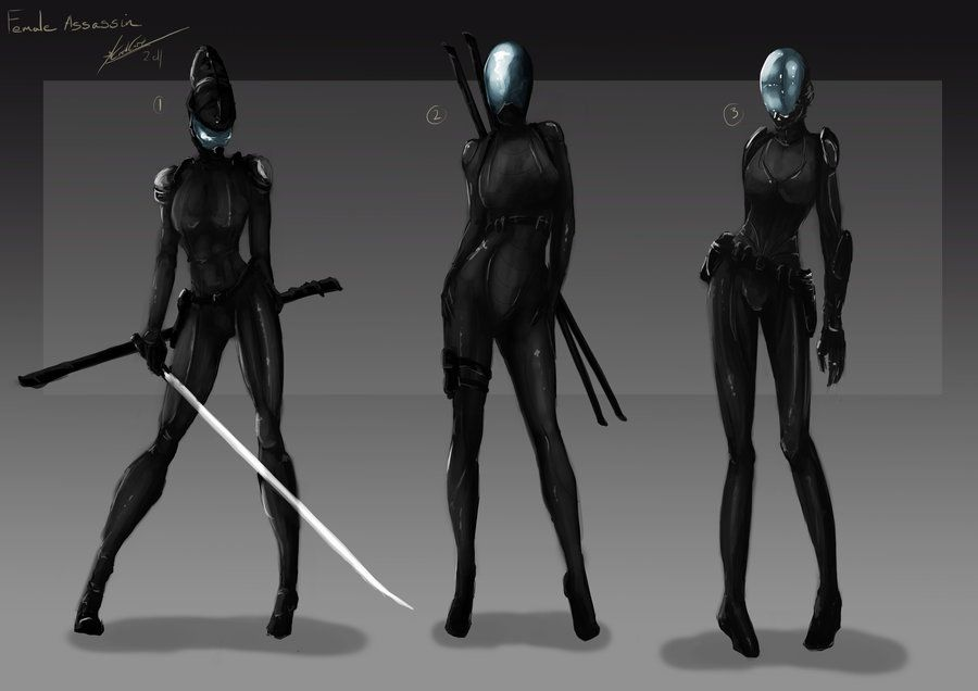 Female Assassin 1st Stage By Tr1gg3r117 On Deviantart Female Assassin Female Ninja Female Ninja Assassin