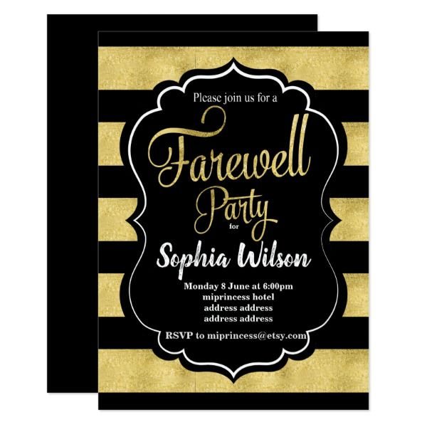 gold farewell party invite farewell parties and gold