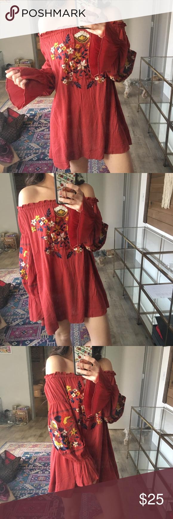 Off the shoulder dress shoulder dress long torso and floral