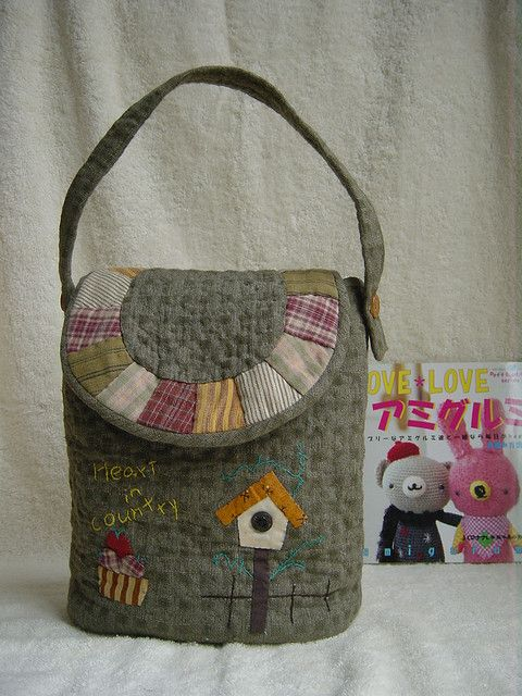 .quilted tote bag
