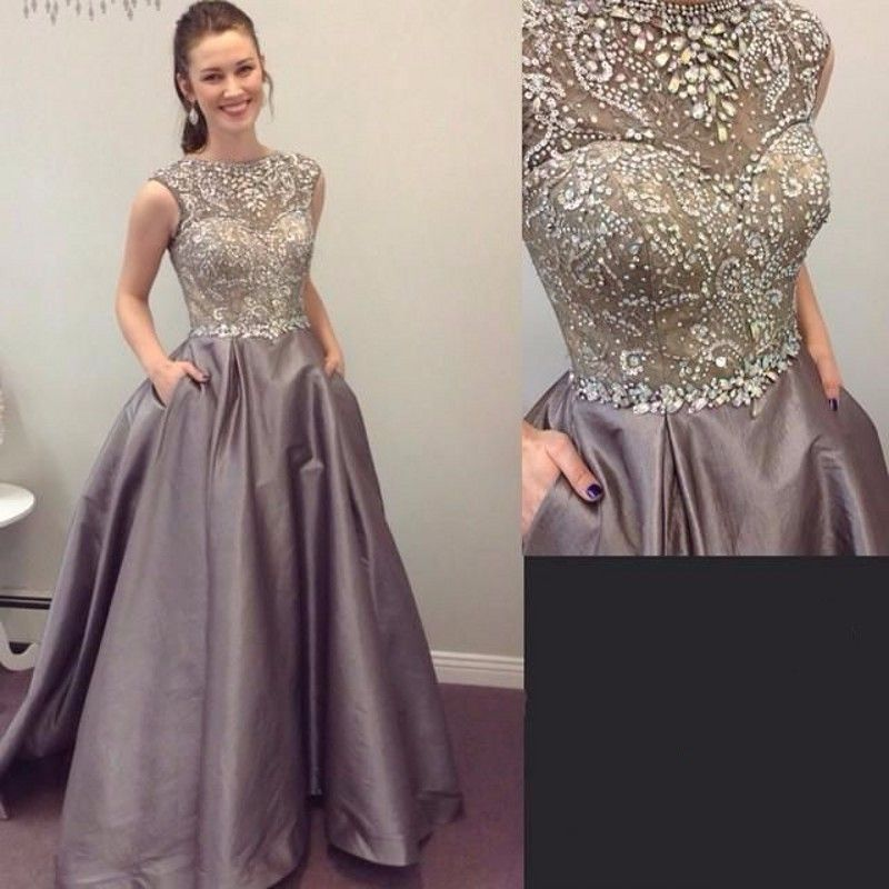 Luxury Beading Puffy A line Evening Dresses Taffeta Party Prom Dress ...