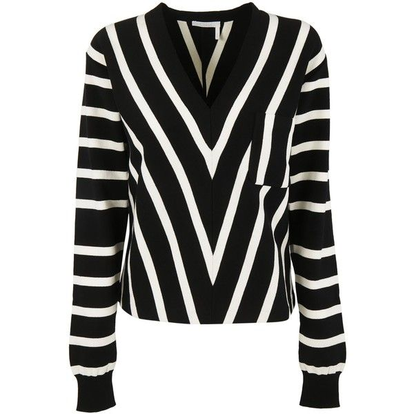 Chloe v Striped Pullover (1 000 AUD) ❤ liked on Polyvore ...