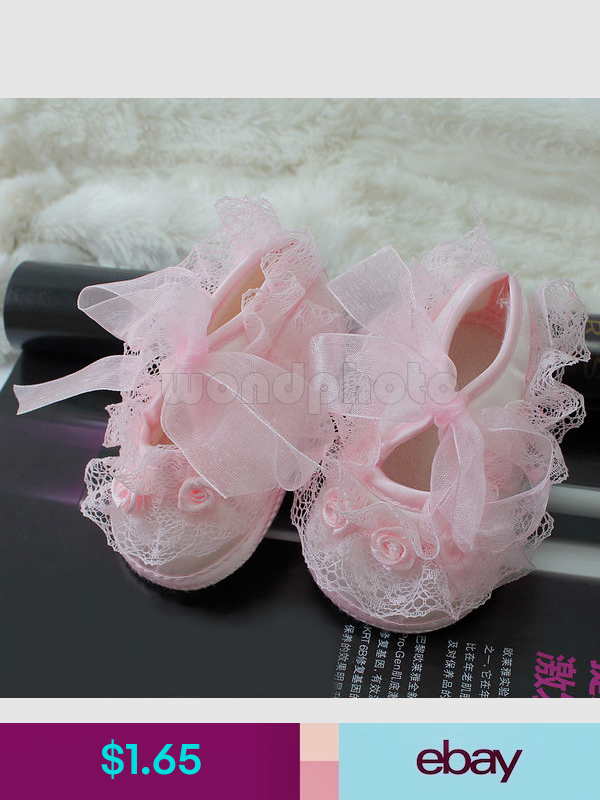 Baypods baby girls pram shoes christening party Early Days 3-6 months PINK