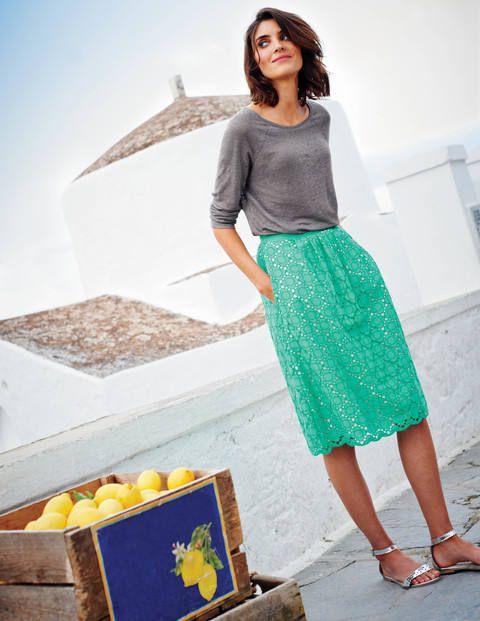 Pretty Broderie Skirt Wg593 A Line Full At Boden Boden Rock