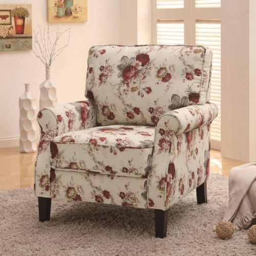 Details about Upholstered White Dining or Accent Chair with Nailhead ...