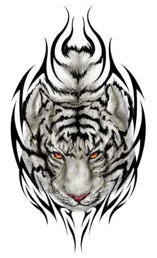 3f01e48ad79e6 tiger tattoos | tribal tiger head tattoo tribal tiger kopf tattoo tête de  tigre