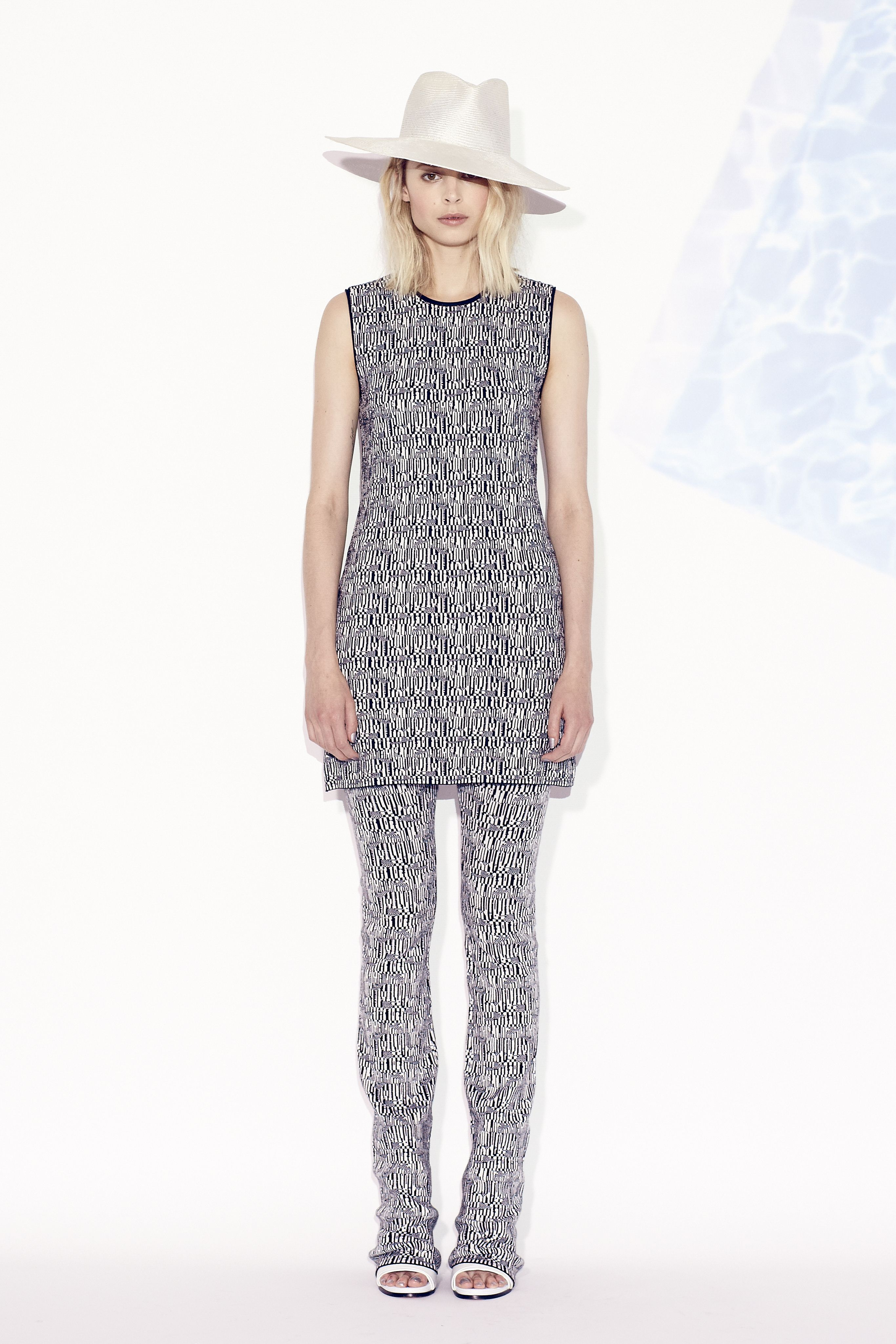 b0bb30df388 Tess Giberson Fragmented Birdseye Striped Knit Dress   Pants ...