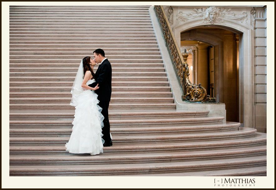 Hong Kong Sf City Hall Wedding Triple Twist Bridal With Images Sf City Hall Wedding City Hall Wedding Wedding
