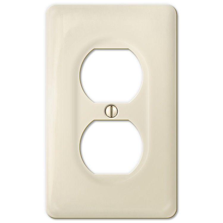 Amertac Ceramic Biscuit 1 Duplex Outlet 3020dbt Switch Plates