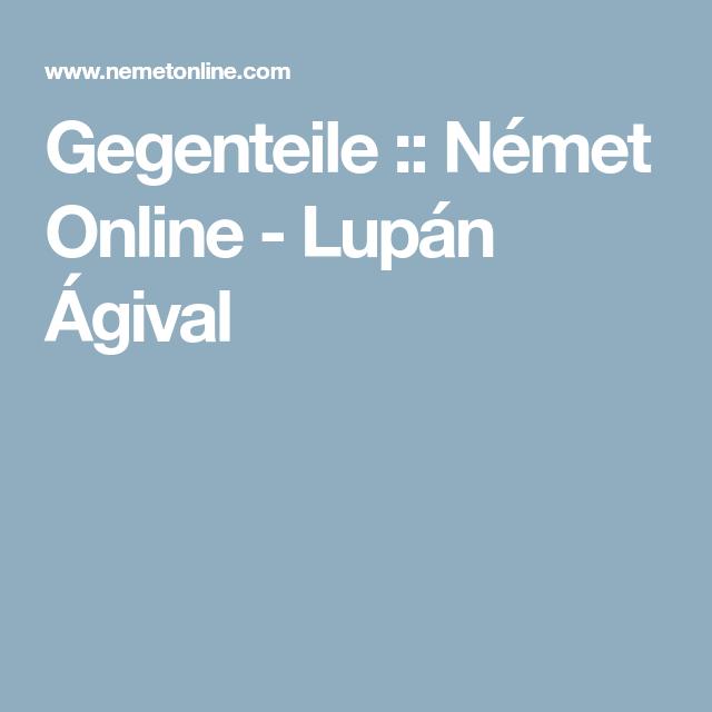 Gegenteile :: Német Online - Lupán Ágival | Német gyerekeknek ...