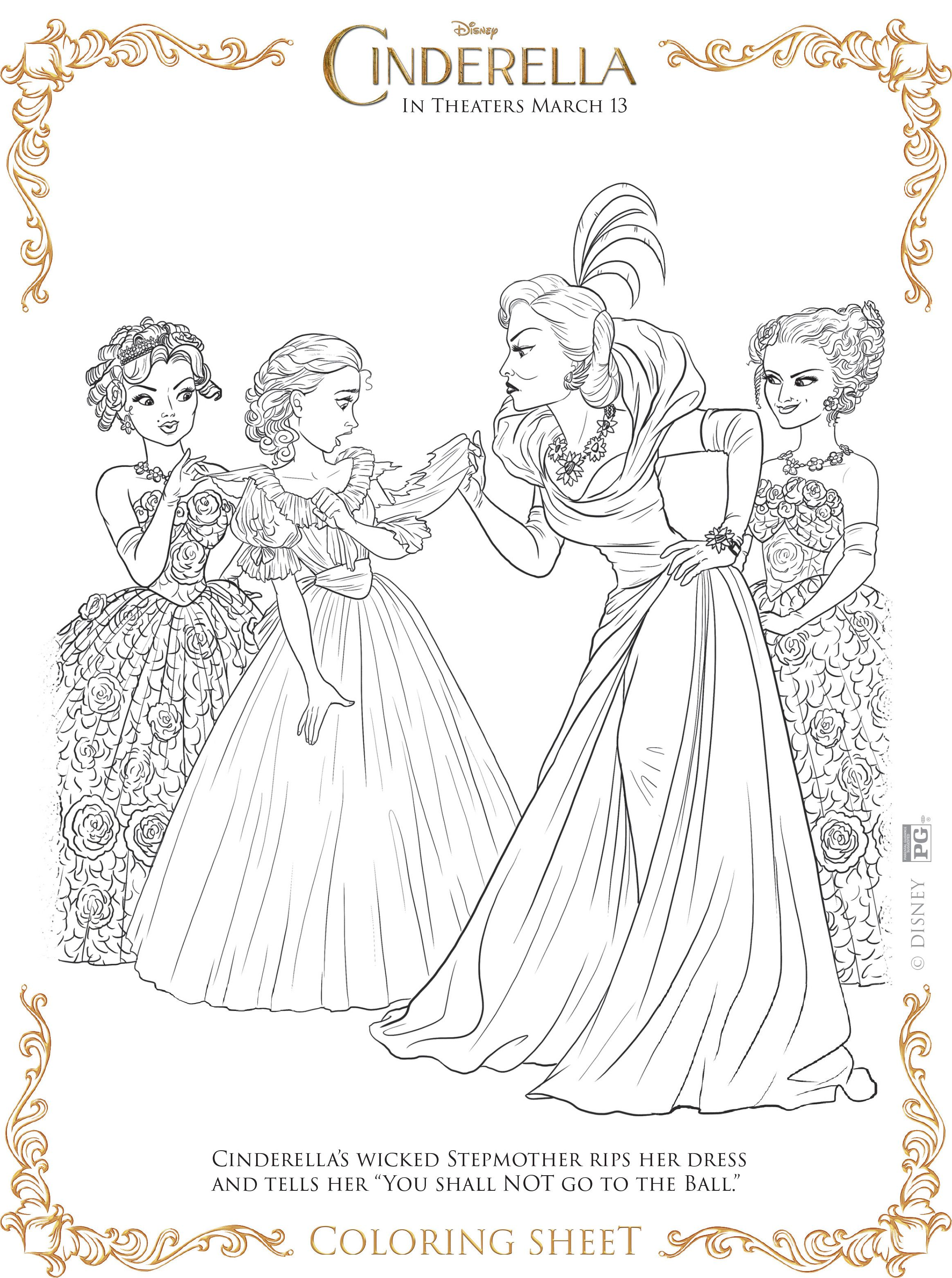 Cinderella Coloring Pages Cinderella Coloring Pages Coloring
