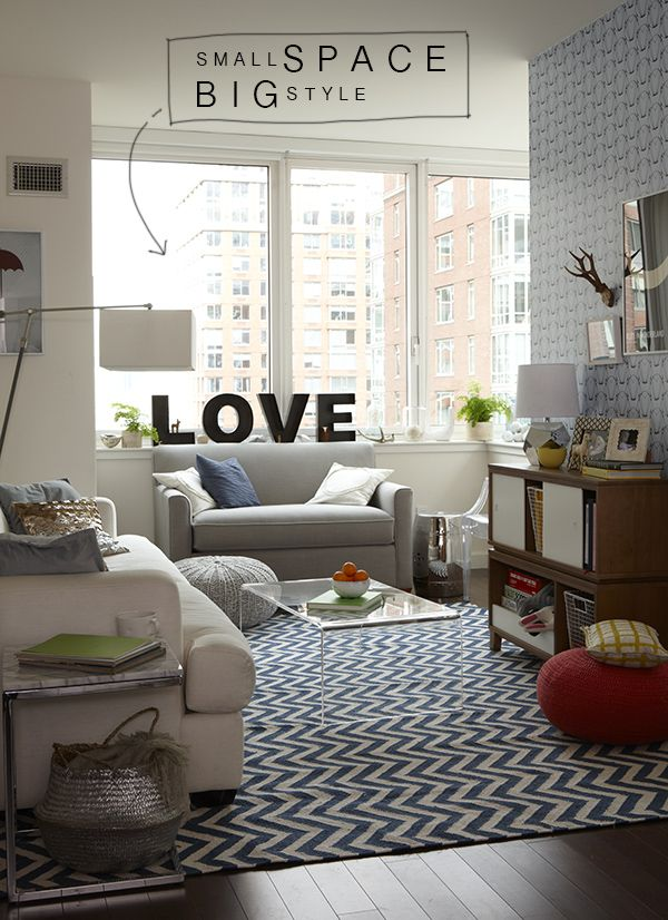 Nyc Apartment Land Of Nod La La Lovely Small Apartment Living Room Small Apartment Living Home Living Room