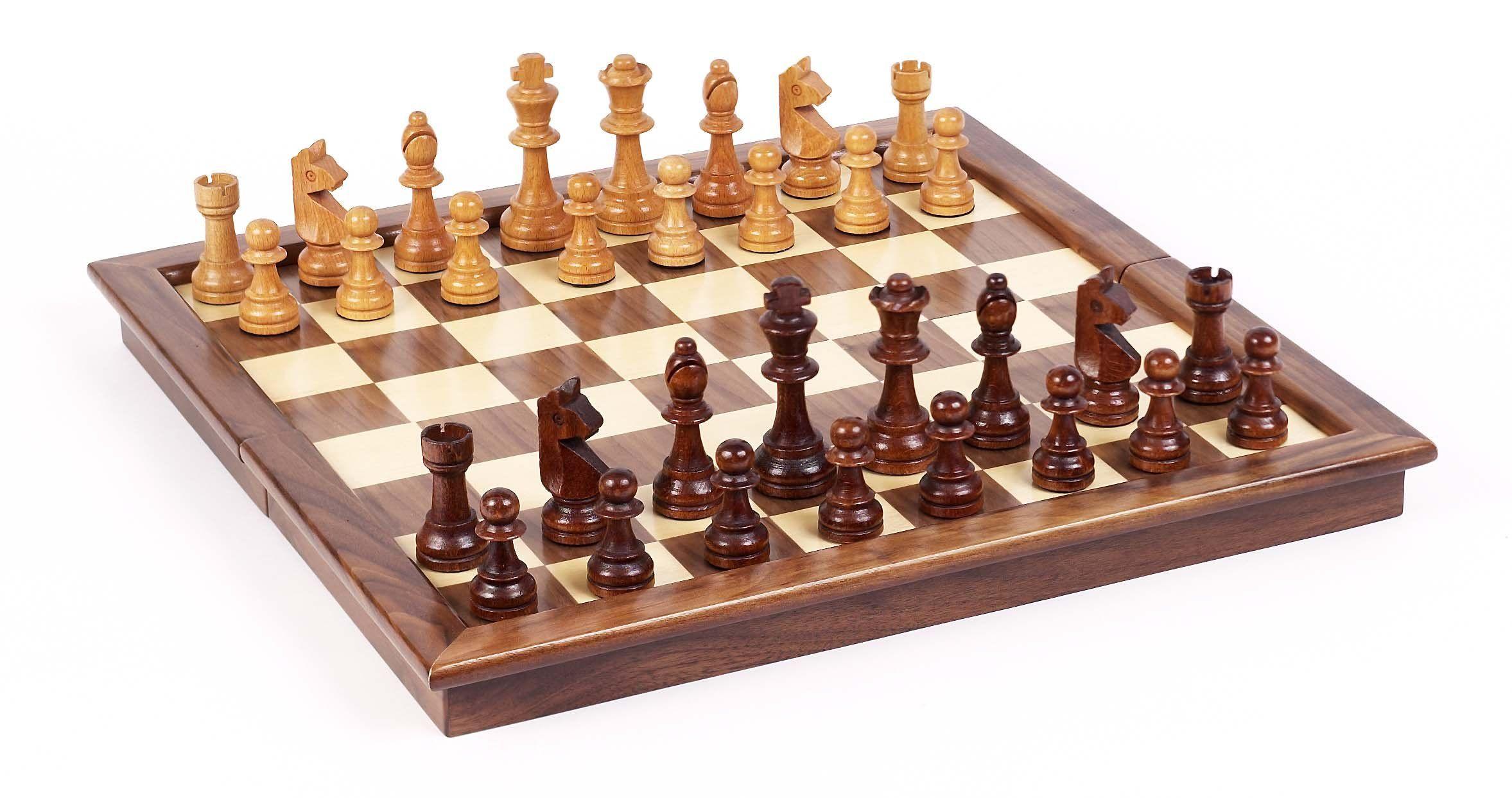 Beau A Big Nice Simple Wooden Chess Set   Grand Street Maple/Walnut Tournament Chess  Set: Amazon.ca: Home U0026 Kitchen