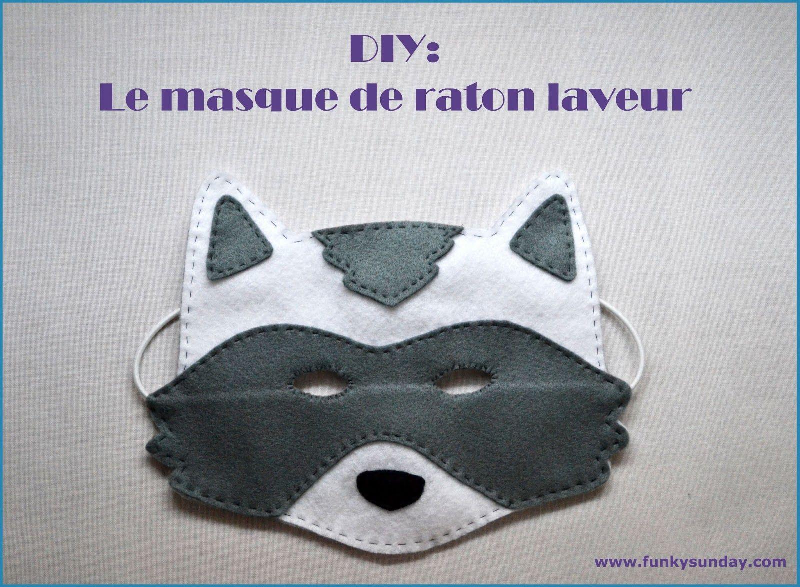 Funky Sunday Diy Le Masque De Carnaval Raton Laveur