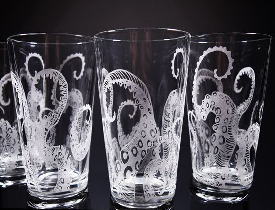 Octopus S Drinking Gl Glware Set By Nexusgl