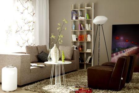 ▷ Wohnräume in Naturfarben - Wandfarben \ Einrichtungstipps - wohnzimmer farbe grau braun