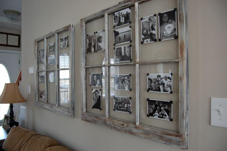 Alte Fenster Dekoration Wanddeko Schwarz Weiss Bilder Vintage Couch