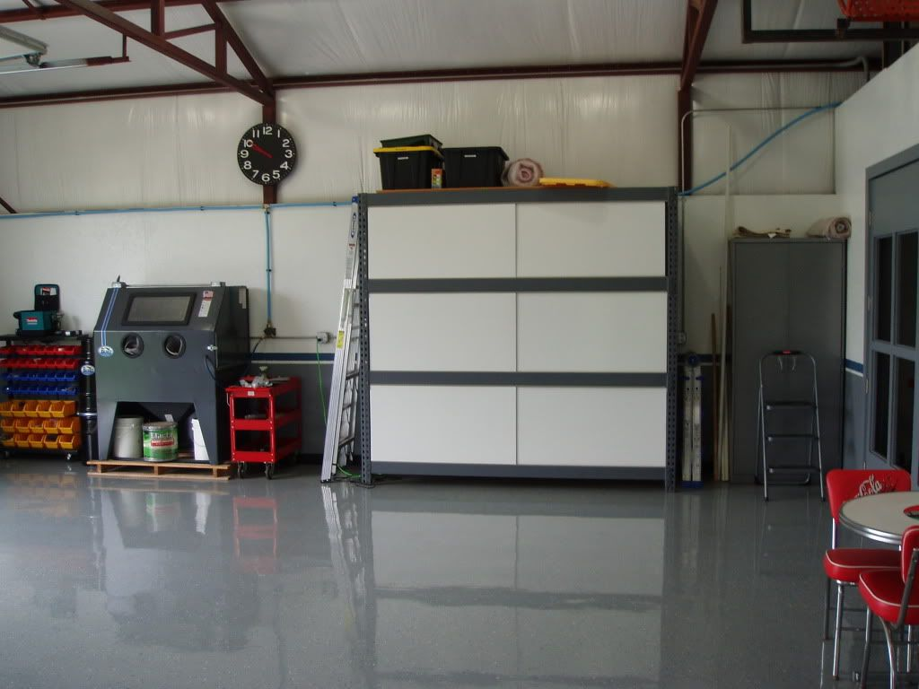Cabinet Doors Over Gorilla Racks Pallet Racks The Garage