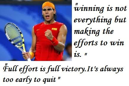 Rafael Nadal Inspirational Sports Quotes Tennis Quotes Sports Quotes